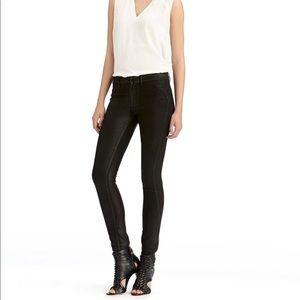 Rachel Roy Black Wax Coated High Rise Skinny Jeans